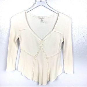 Intimately Free People WaffleKnit Shirt Size XS/TP